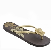Brown and Gold Nature V Flip Flops by iPANEMA