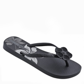 Black and Silver Nature V Flip Flops by iPANEMA