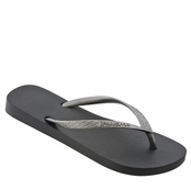 Black and Silver Classic Tan Flip Flops by iPANEMA
