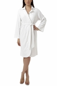 Oscar de la Renta White Short Palm Reflections Robe