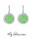 Swarovski Crystal Peridot Rock Crystal Leverback Earrings by Liz Palacios