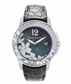 Womens Black Floral Watch TB2132 by Tommy Bahama