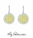 Swarovski Crystal Jonquil Rock Crystal Leverback Earrings by Liz Palacios
