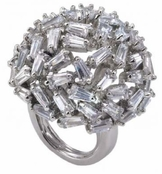 Crystal Baguette Dome Ring by Spring Street