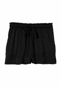 Nicole Miller Black Satin Lounge Shorts