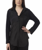 Nicole Miller Black Signature Pocket Shirt