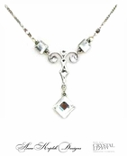 Swarovski Crystal Ornate Drop Necklace by Anne Koplik