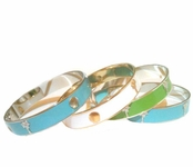 Tropical Small Gold Charm Bangle by Janna Conner