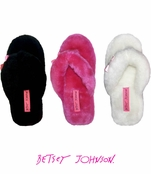Between the Sheets! Fluffy Flip Flop Slippers by Betsey Johnson