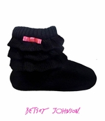 Cozy Hearts Slipper Booties by Betsey Johnson