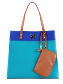 Danielle Nicole Teal Jelly Color Block Tote