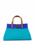 Danielle Nicole Teal Jelly Color Block Mini Satchel