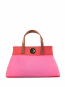 Danielle Nicole Coral Jelly Color Block Mini Satchel