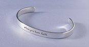 When You Have Faith Sterling Silver Cuff Bracelet by Far Fetched