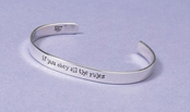 If You Obey Sterling Silver Cuff Bracelet by Far Fetched
