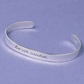 Live With Intention Sterling Silver Cuff Bracelet by Far Fetched