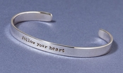 Follow Your Heart Sterling Silver Cuff Bracelet by Far Fetched