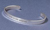 Live in the Moment Sterling Silver Cuff Bracelet by Far Fetched
