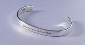 Peace Comes From Within Sterling Silver Cuff Bracelet by Far Fetched