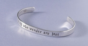 Not All Who Wander Sterling Silver Cuff Bracelet by Far Fetched