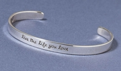Live the Life You Love Sterling Silver Cuff Bracelet by Far Fetched