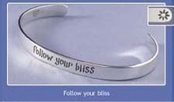 Follow Your Bliss Sterling Silver Cuff Bracelet by Far Fetched