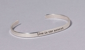 Live in the Moment Slim Cuff Sterling Silver Bracelet by Far Fetched
