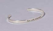 Live With Intention Slim Cuff Sterling Silver Bracelet by Far Fetched
