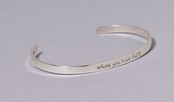 When You Have Faith Slim Cuff Sterling Silver Bracelet by Far Fetched