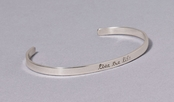 Live the Life Slim Cuff Sterling Silver Bracelet by Far Fetched