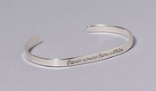 Peace Comes From Within Slim Cuff Sterling Silver Bracelet by Far Fetched