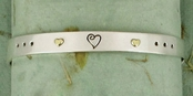 Love Heals Two Sided Sterling Silver Cuff Bracelet by Far Fetched