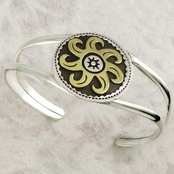 Large Sun Double Cuff Bracelet by Far Fetched