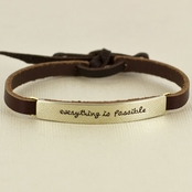 Everything is Possible Leather Bracelet by Far Fetched