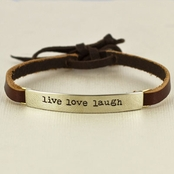 Live Love Laugh Leather Bracelet by Far Fetched