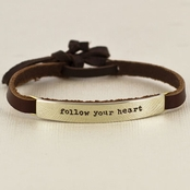 Follow Your Heart Leather Bracelet by Far Fetched