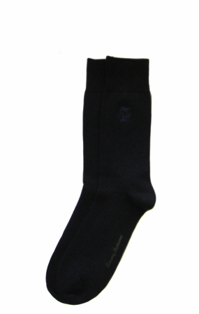 Navy Initial Palm Crew Socks by Tommy Bahama