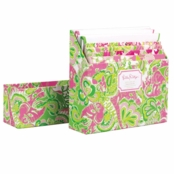 Lilly Pulitzer Notecard Set Chin Chin