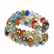 Alexia Crawford Rainbow Triple Strand Beaded Bracelet
