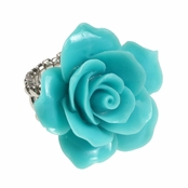 Alexia Crawford Turquoise Rose Stretch Ring