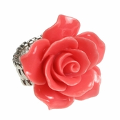 Alexia Crawford Coral Rose Stretch Ring
