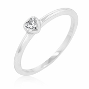 CZ Mini Heart Stackable Ring