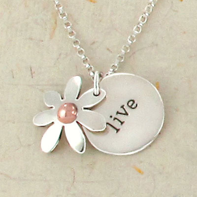 Daisy Live Layered Disc Necklace by Far Fetched