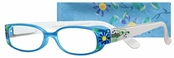 Peepers Blue Aloha Reading Glasses
