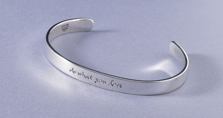 Do What You Love Sterling Silver Cuff Bracelet by Far Fetched