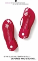 Red Crystal Flower Platform  Flip Flops by Girl Two Doors Down