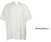 Coconut Catalina Twill Silk Camp Shirt by Tommy Bahama