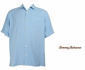Chambray Blue Catalina Twill Silk Camp Shirt by Tommy Bahama