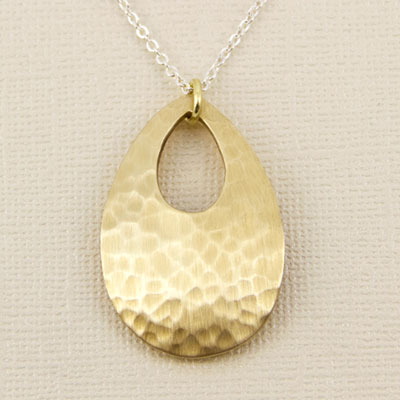 Tombac Teardrop Necklace by Far Fetched