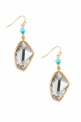Asymmetrical Crystal Drop Earrings by Spring Street